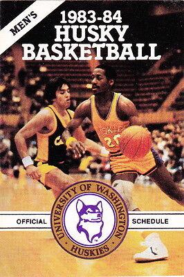 - 1983-84 UNIVERSITY OF WASHINGTON HUSKY MEN'S BASKETBALL POCKET SCHEDULE