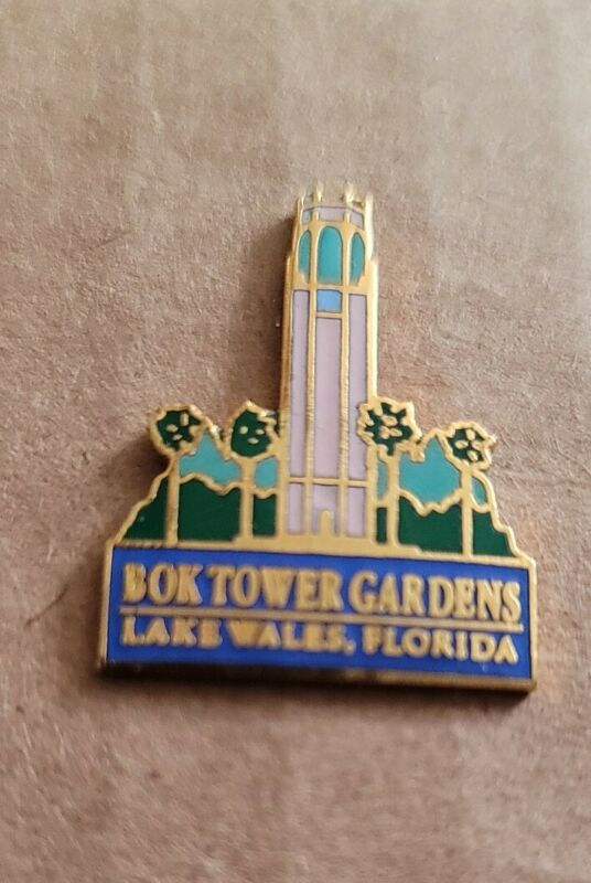 BOK Tower Gardens Pin Badge Lake Wales Florida Rare Vintage Souvenir pin (p91