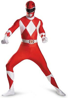 Red Ranger Deluxe Bodysuit Mighty Morphin Power Rangers Halloween Child Costume ()