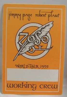 LED ZEPPELIN / ROBERT PLANT / JIMMY PAGE - ORIGINAL CLOTH TOUR BACKSTAGE PASS