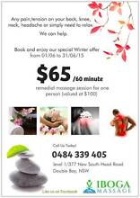 $65 Winter massage offer in Double bay Double Bay Eastern Suburbs Preview