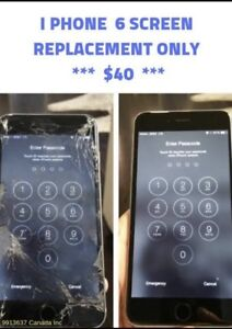 iPhone 6 screen replacement only $39.99