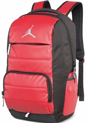 Nike Jumpman 9A1640-681 Laptop Bookbag Basketball Boys Backpack Gym Red/Black
