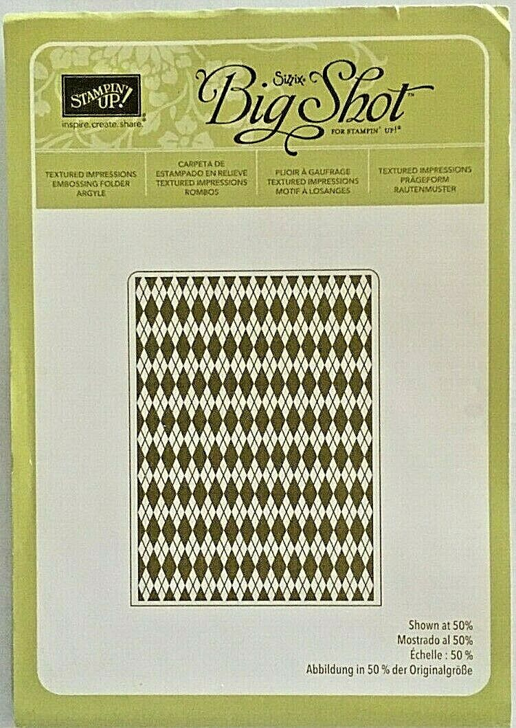 Stampin Up Argyle Textured Impressions Embossing Folder-Retired - $6.99