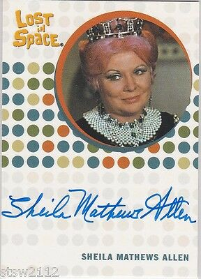 THE COMPLETE LOST IN SPACE SHEILA MATTHEWS ALLEN AUNT GAMMA AUTOGRAPH