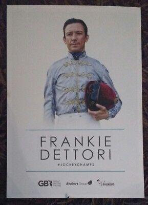 Frankie Dettori Jockey Champs card, Stobart Group