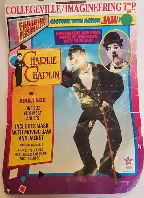 Charlie Chaplin Costumes (Collegeville Charlie Chaplin Action Jaw Costume w/Mask & Coat)
