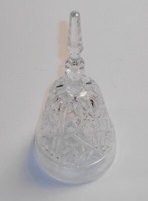"Clear Cut Glassware Crystal 7"" Dinner Bell Hobstar & File Pinwheel Pattern Glass"