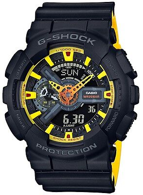 BRAND NEW CASIO G-SHOCK GA110BY-1A ANA-DIGI YELLOW/BLACK MEN'S WATCH NWT!!!
