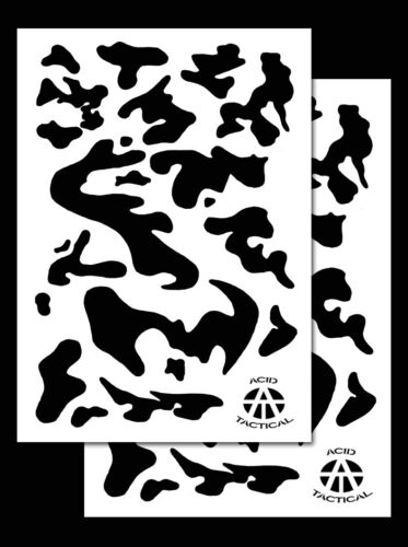 """2Pack! Vinyl Airbrush Stencils 10 Mil Camouflage Duracoat 9x14"""" (Army Camo)"""
