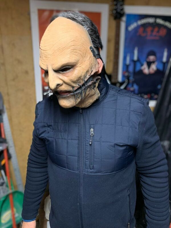 Pre Owned Handmade 2 Piece Slipknot Corey Taylor Mask Vol 5 Gray Chapter