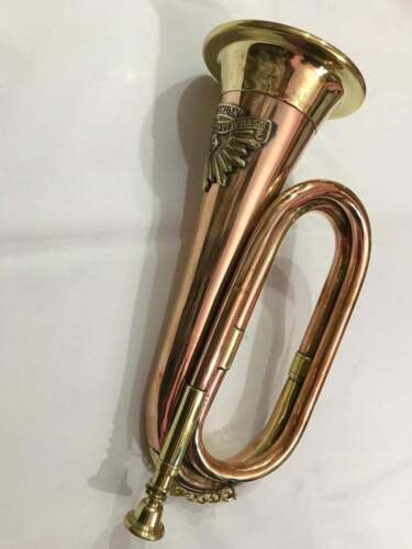 Bugle Brass & Copper Vintage Australian Military Forces Commonwealth