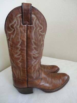 NICE Mens Leather Cowboy Boots MADE IN USA By 'Justin', Size UK 6.5