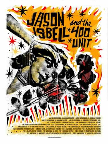 Jason Isbell Amanda Shires 2018 Winter Tour Poster