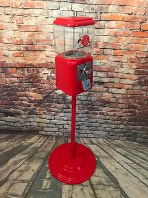 Acorn 1 c Gumball Machine glass vintage coin op with metal stand
