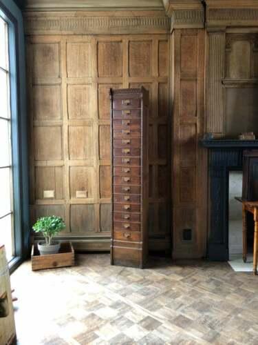 Antique Oak File Cabinet, Globe Ideal Cabinet File, Card Catalog, Apothecary