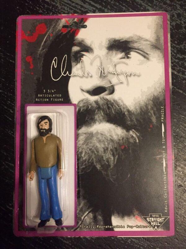 Charles Manson 3.75 Handmade Custom Figure True Crime NEW Helter Skelter