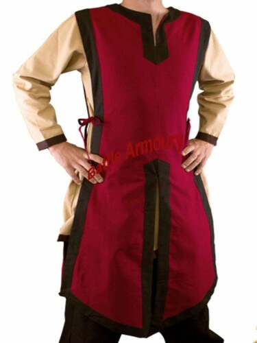 MEDIEVAL Knight Red Color Reenactment Tunic