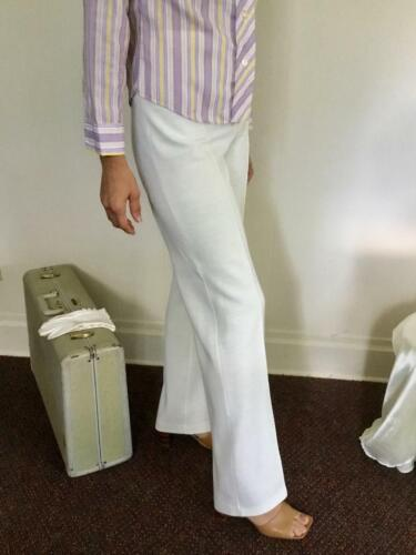 "70's Vintage White Wide Leg Hi-Waist ""Saks Fifth Avenue"" Pants"