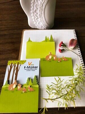 50 Pack Of Rabbitforest Sticky Note Reminder Pad Memo Stickers Stationary