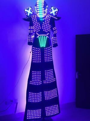 Light Up LED Robot Suit Stilts Walker Costume Luminous Dress Stage Performance