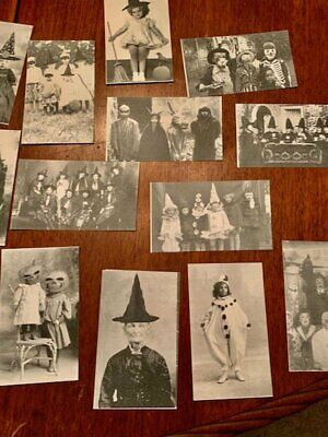 HALLOWEEN POSTCARDS*CREATED FROM REAL VINTAGE PHOTOS*25