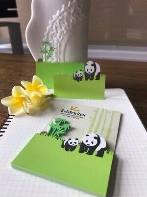 50 Of Pack Pandabamboo Sticky Notes Reminder Pad Memo Stationary Laser Cut