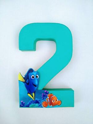 Nemo Birthday Decorations (Finding Dory/Nemo Themed Birthday Number centerpiece-Letters /Numbers Photo)