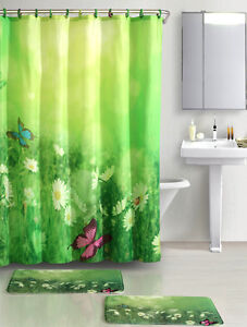 Butterfly MeadowTM Printed Fabric Shower Curtain