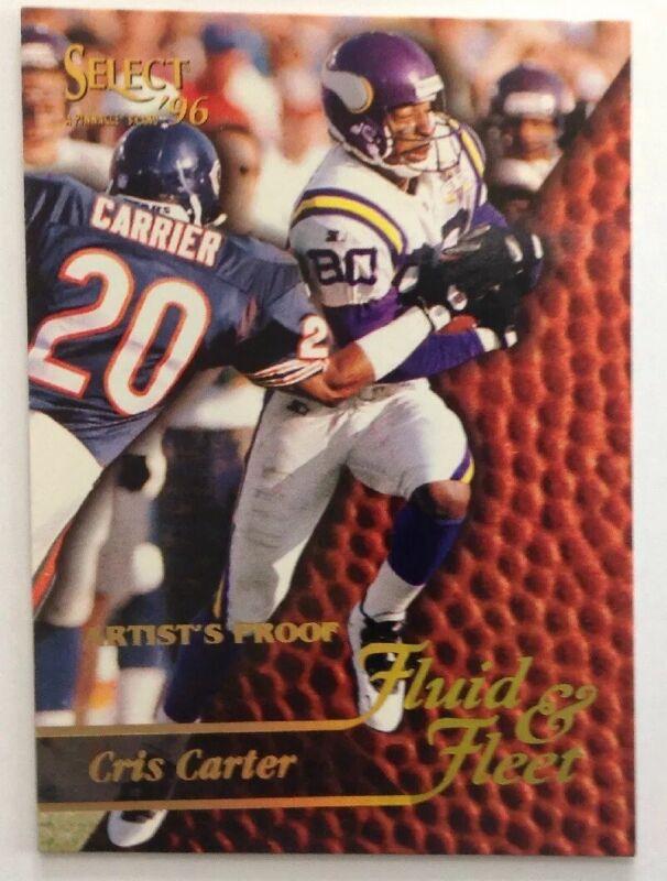 1996 Select Artist's Proofs Minnesota Vikings Football Card #193 Cris Carter FF