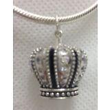 Authentic PANDORA  390346CZ Royal Crown clear cz Pendant Retail $120 (Retired )