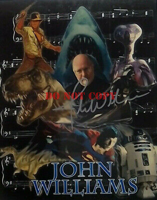 JOHN WILLIAMS - STAR WARS - SIGNED AUTOGRAPHED 8X10 PHOTO - COMPOSER