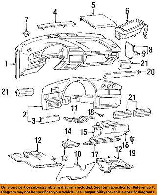 Chevrolet GM OEM 95-99 Monte Carlo Instrument Panel Dash-Lock 10258649