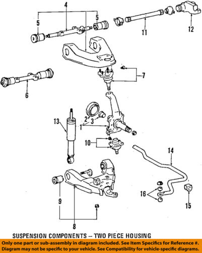 Toyota 4runner T100 Pickup Front Steering Knucle Bushing 90381. Seller Payment Information. Toyota. 1996 Toyota T100 Front Wheel Diagram At Scoala.co