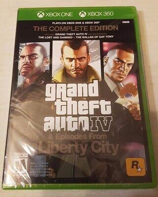 Grand Theft Auto Iv    Complete Edition  Microsoft Xbox 360 Xbox One  2017  New