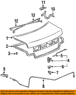 TOYOTA OEM 92-96 Camry Trunk Lid-Hinge Right 6451033010