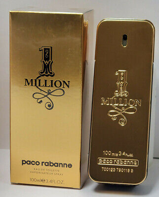Paco Rabanne 1 Million Eau De Toilette Spray For Men 3.4oz / 100ml New