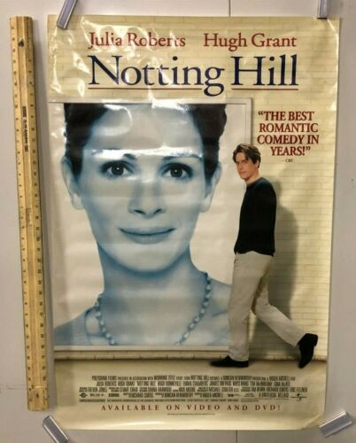 HUGE SUBWAY POSTER Notting Hill Movie Julia Roberts Hugh Grant Romantic Comedy