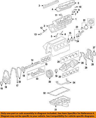 GM OEM-Engine Crankshaft Main Bearing 89017571 Sierra Main Bearing
