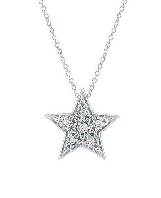 Diamond Five Point Twinkle Twinkle Little Star Pendant Necklace 14k White Gold F Twinkle 14k Necklace