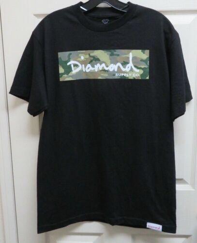 Diamond Supply Co. Men's M Black Camo Box T-Shirt NWOT