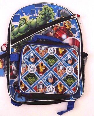Original Marvel Comics Super Heroes Kids Boys Backpack With Detachable Lunch Box](Super Heroes Backpack)