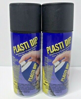 Plasti Dip Rubber Coating Spray Paint Matte Black 11 Oz New Lot Of 2