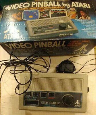 Atari Video Pinball C-380 Game System Console In Original Box Tested & working!!
