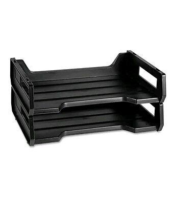 7520010944307 Plastic Desk Tray Letter Size 12 X 8 12 X 5 2 Tray Black