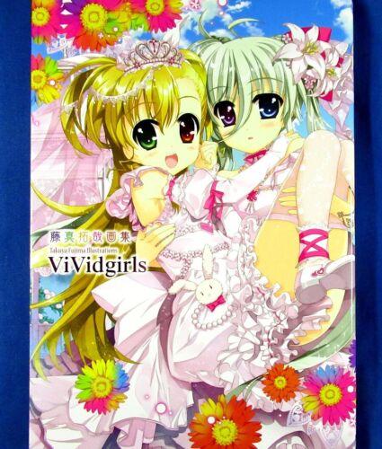 Takuya Fujima Illustrations - VividGirls /Japanese Anime Art Book