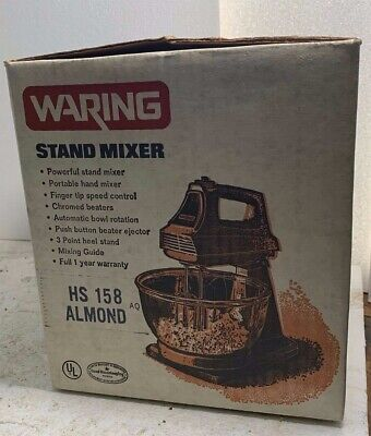1970 Waring 2 In 1 Stand Mixer - Hs 158 Almond