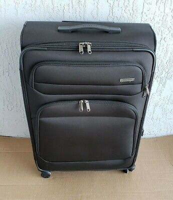 "Samsonite Epsilon NXT Softside Spinner Luggage Black- 30"" Check In Piece"