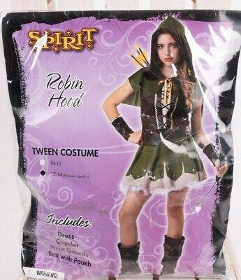 Robin Costume For Girls (Robin Hood Tween Spirit Girls JuniorsHalloween Costume Dress Large 12-14)