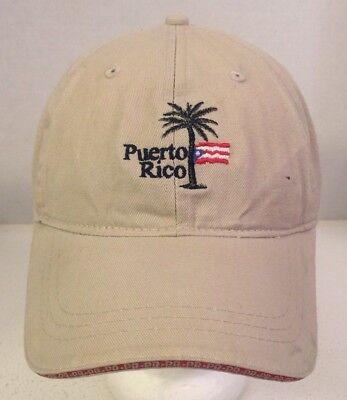 Puerto Rico El Conquistador Resort Tan/Ivory Adjustable Strap Baseball Cap Hat